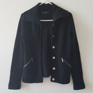 Anne Klein black sweater jacket petite